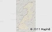 Shaded Relief Map of Ergun Youqi, semi-desaturated