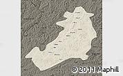 Shaded Relief Map of Ergun Zuoqi, darken