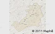 Shaded Relief Map of Ergun Zuoqi, lighten