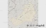 Shaded Relief Map of Ergun Zuoqi, semi-desaturated