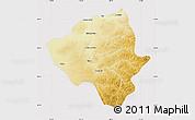 Physical Map of Ewenkizu Zizhiqi, cropped outside