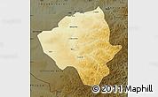 Physical Map of Ewenkizu Zizhiqi, darken