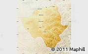 Physical Map of Ewenkizu Zizhiqi, lighten