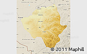 Physical Map of Ewenkizu Zizhiqi, shaded relief outside