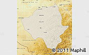 Shaded Relief Map of Ewenkizu Zizhiqi, physical outside