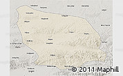 Shaded Relief 3D Map of Guyang, semi-desaturated