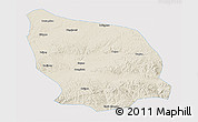 Shaded Relief 3D Map of Guyang, single color outside