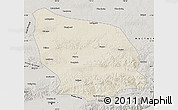 Shaded Relief Map of Guyang, semi-desaturated