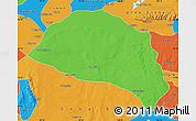 Political Map of Hanggin Qi