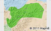 Political Map of Harqin Qi, lighten