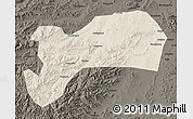 Shaded Relief Map of Harqin Qi, darken
