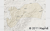 Shaded Relief Map of Harqin Qi, lighten