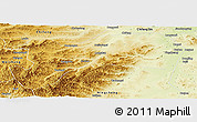 Physical Panoramic Map of Harqin Qi
