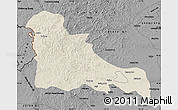 Shaded Relief Map of Horqin Youyiqianqi, darken, desaturated