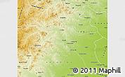 Physical Map of Horqin Youyizhongqi
