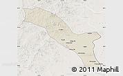 Shaded Relief Map of Horqin Youyizhongqi, lighten