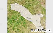 Shaded Relief Map of Horqin Youyizhongqi, satellite outside