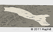 Shaded Relief Panoramic Map of Horqin Youyizhongqi, darken