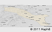 Shaded Relief Panoramic Map of Horqin Youyizhongqi, desaturated