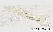 Shaded Relief Panoramic Map of Horqin Youyizhongqi, lighten