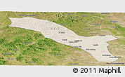 Shaded Relief Panoramic Map of Horqin Youyizhongqi, satellite outside