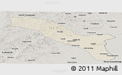 Shaded Relief Panoramic Map of Horqin Youyizhongqi, semi-desaturated
