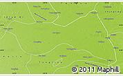 Physical Map of Horqin Zuoyizhongqi