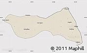 Shaded Relief Map of Horqin Zuoyizhongqi, cropped outside