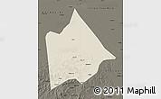 Shaded Relief Map of Hure Qi, darken
