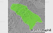 Political Map of Jarud Qi, desaturated