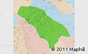 Political Map of Jarud Qi, lighten