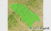 Political Map of Jarud Qi, satellite outside