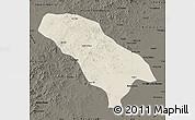 Shaded Relief Map of Jarud Qi, darken