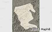 Shaded Relief Map of Linxi, darken