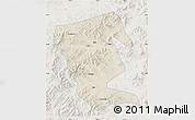 Shaded Relief Map of Linxi, lighten