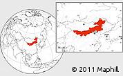 Blank Location Map of Nei Mongol Zizhiqu
