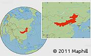 Savanna Style Location Map of Nei Mongol Zizhiqu