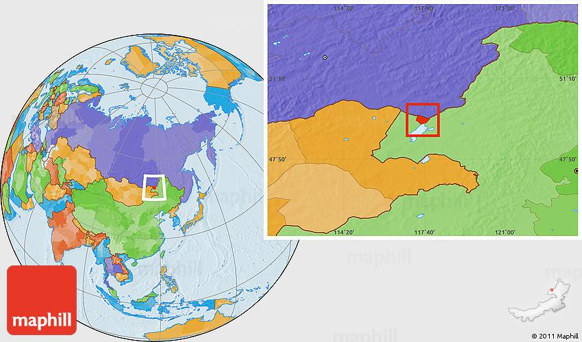 Political Location Map Of Manzhouli Shi - Manzhouli map