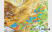 Political Map of Nei Mongol Zizhiqu, physical outside