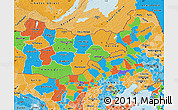 Political Map of Nei Mongol Zizhiqu, political shades outside