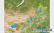 Political Map of Nei Mongol Zizhiqu, satellite outside
