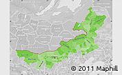 Political Shades Map of Nei Mongol Zizhiqu, lighten, desaturated