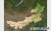 Satellite Map of Nei Mongol Zizhiqu, darken