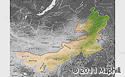 Satellite Map of Nei Mongol Zizhiqu, desaturated