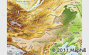 Satellite Map of Nei Mongol Zizhiqu, physical outside