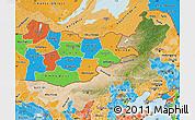 Satellite Map of Nei Mongol Zizhiqu, political shades outside