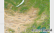 Satellite Map of Nei Mongol Zizhiqu