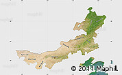 Satellite Map of Nei Mongol Zizhiqu, single color outside