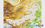 Shaded Relief Map of Nei Mongol Zizhiqu, physical outside