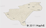Shaded Relief Panoramic Map of Morindawa Daur Ab, cropped outside